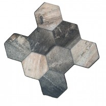 Vloertegels Hexagon Old Wood Optiek 45x45cm