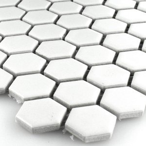 Mozaïektegel Keramiek Hexagon Wit Mat 23x23x4mm