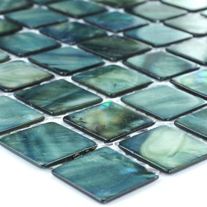 SAMPLE Mozaïektegel Glas Paarlemoer Effect 25x25x2mm Groen