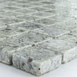 SAMPLE Mozaïektegel Granit 23x23x8mm Grijs Wit