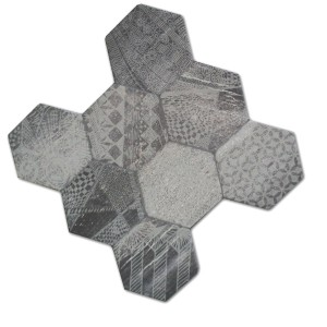Vloertegels Hexagon Hologram Optiek 45x45cm