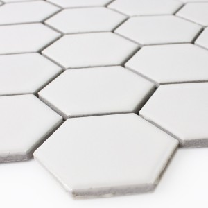 Mozaïektegel Keramiek Hexagon Wit Mat