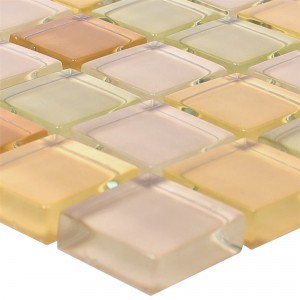 Glasmozaïek Tegels 23x23x8mm Beige Mix