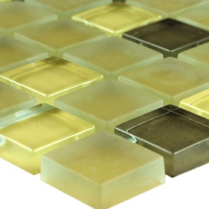 Glasmozaïek Tegels Yellow 23x23x8mm